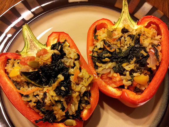 Kale Stuffed Peppers