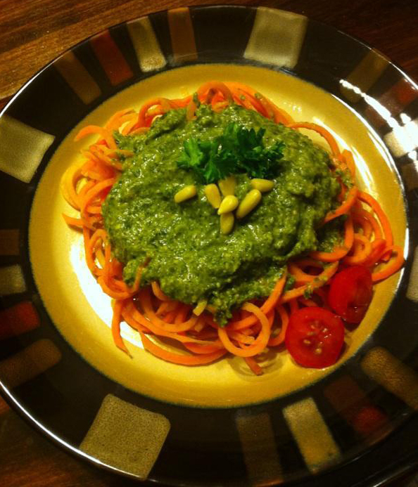 Sweet Potato Pasta With Creamy Kale Sauce