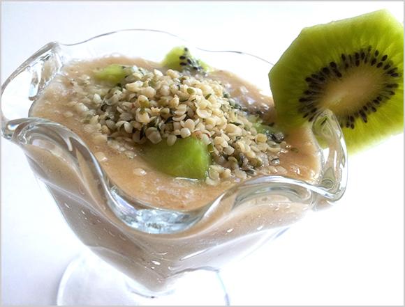 Banana Kiwi Hemp Seed Pudding