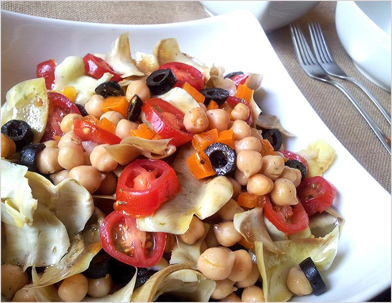 artichoke heart salad_