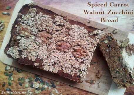 Spiced Carrot Walnut Zucchini Bread