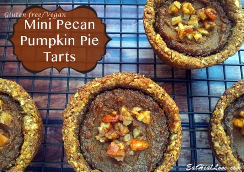 Mini pecan pumpkin pie tarts