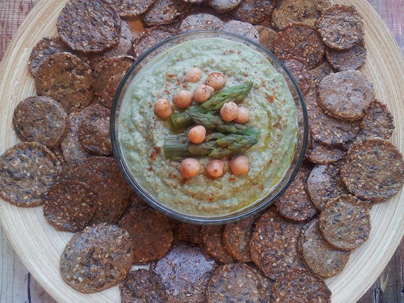 New Years Blitz Asparagus Hummus Dip