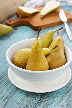 36974349 - pears on a wooden background